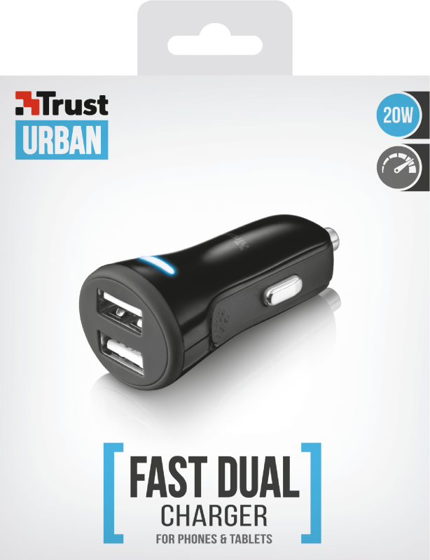 20W Fast Dual Car Charger