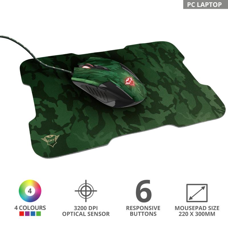 GXT781 Rixa Camo mouse & pad