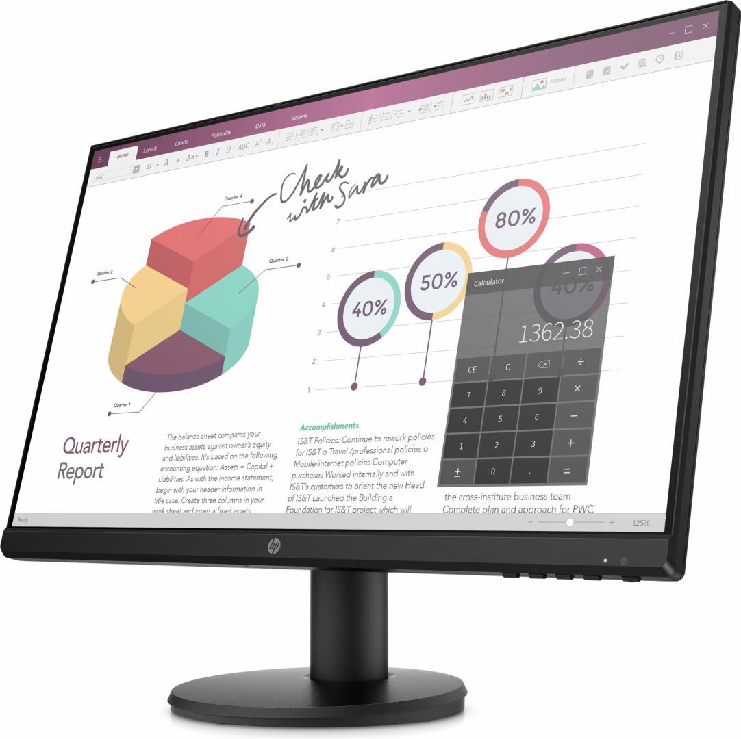 """HP P24v G4 23.8""""  FHD Monitor"""