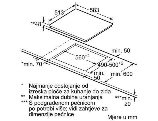 BOSCH Staklokeramička ploča