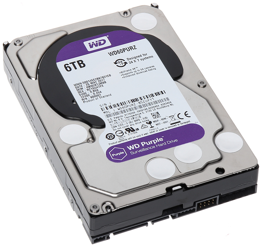 WD HDD 6TB SATA3 64MB Purple