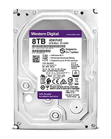 WD HDD 8TB SATA3 256MB